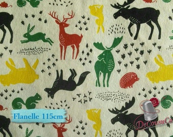 "Fat quarter, 18""X22"", (45cm X 55cm), Flannel, Hudson, Camelot Fabrics, white, Flannel 100% high quality cotton"