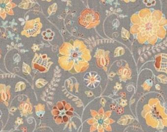 Flower, taup, 66190103, col 02, Free Spirit, Camelot Fabrics, 100% Cotton