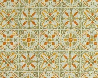 Tile,orange, sage, 66180205, col 03, Autumn Impressions, Camelot Fabrics, cotton, cotton quilt, cotton designer