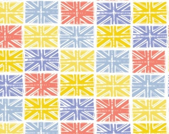 Flag, Multi, white, From London with Love, 30170104, 01, Camelot Fabrics, cotton, cotton quilt, cotton designer