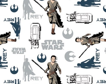 Star Wars, Rey, The force awakens, 7360104, col 01, Camelot Fabrics, cotton, cotton quilt, cotton designer
