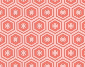 Grapefruit, honeycomb, 2142, col 30, Mixology, Camelot Fabrics, cotton, cotton quilt, cotton designer