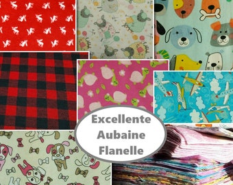 50%, 50 pieces Flannel, excellent quality, FE, FQ, 1/4 yard and more