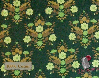 Flourish, 3240202, col 02, Ciana Bodini, Camelot Fabrics, flower, green, multiple quantity cut in one piece, 100% Cotton