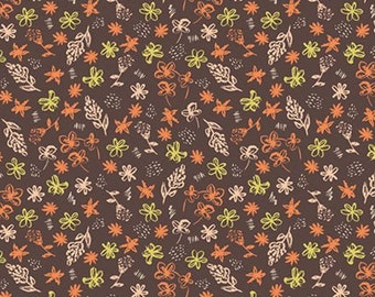 Mixed bouquet, brown, 21180801, col 02, Flower Market, Camelot Fabrics, 100% Cotton