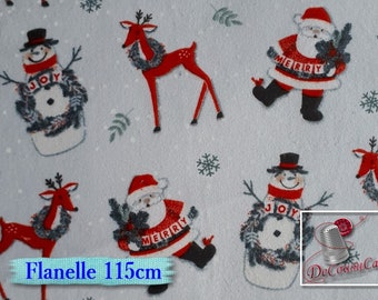 Flannel, Christmas, white, Henry Glass & Co, many yards will be cut as one piece, Flannel 100% high quality cotton