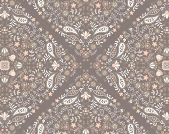 Paisley, floral, peach, 2144701-03, Camelot Fabrics, multiple quantity cut in one piece, 100% Cotton, (Reg 2.99-17.99)