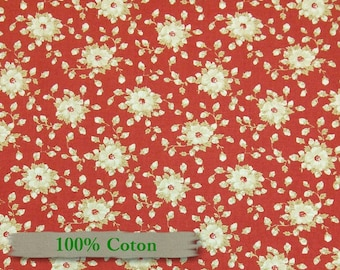 Cotton, Red Rooster, With all my heart, 24807, flower, corail, red,