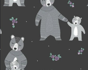 SALE, Ours, mère et enfant, Bear Hug, 21181501, col 02, Camelot Fabrics, 100% Cotton, (Reg 3.76-21.91)