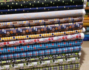 Bundle of 12, On the Move of Camelot Fabrics, 100% cotton