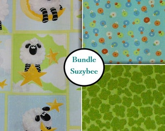 3 prints, 1 of each,World of Susybee, for Hamil Textiles Design, Bundle,