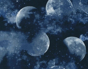 Moon, Space, 6447, Timeless Treasures, quilt cotton, designer cotton