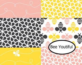 Bundle 6 designs, Bee Youtiful,Camelot Fabrics, 100% Cotton