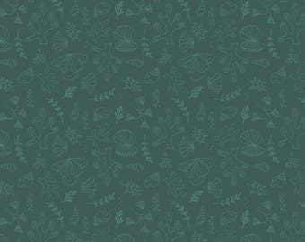 Under the sea, dark teal, 6141607, col 03, Camelot Fabrics, multiple quantity cut in one piece, 100% Cotton,  (Reg 3.99 - 17.99)