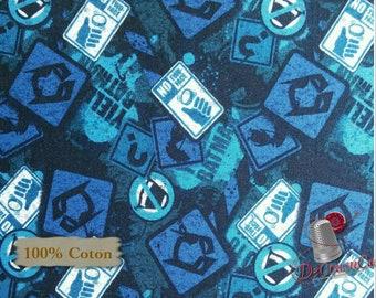 Disney, Batman, bleu, 23200107, col 01, Camelot Fabrics, , 100% Cotton, quilt cotton