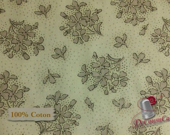 Flower, Gray, Orianna, Red Rooster, 26668, multiple quantity cut in one piece, 100% Cotton