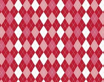 Christmas Adventure, Riley Blake Designs, Christmas fabric 100% cotton, #10736 SCARLET
