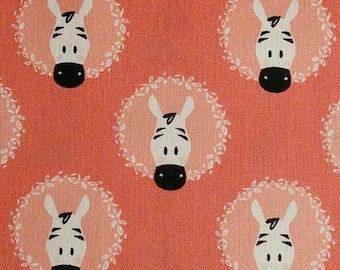 Zebra, coral, 21180907, col 01, Peek-A-Boo, Camelot Fabrics, 100% Cotton