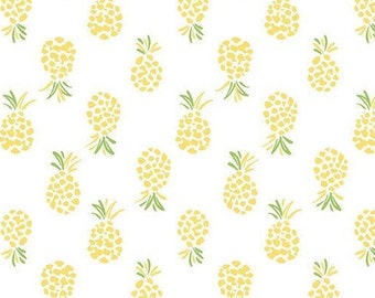Abstract Pineapple, yellow, 71180308, col 01, By The Sea, Laura Ashley, Camelot Fabrics, 100% Cotton, (Reg 2.99-17.99)