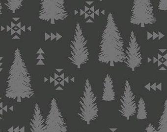 Tree Pine, Trees, Charcoal, Timberland, 10333, Riley Blake, cotton quilt, cotton designer, (Reg 3.76-21.91)