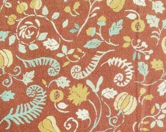 Harvest, aqua blue, acajou, 66180201, col 02, Autumn Impressions, Camelot Fabrics, cotton, cotton quilt, cotton designer