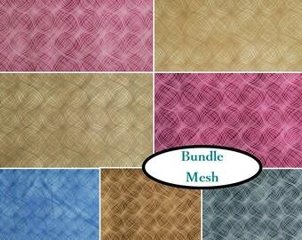 """7 FQ, 1/4 yard, 1/2 yard, FE = 9""""X22"""", 1 of each, Mesh, H & P textiles, 100% cotton"""