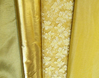 Gilding, gold, shiny, choice of 4 textures, decorative, for costume, sold by the meter