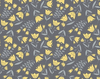 Tulip, Flutter & Buzz, 6141802-02, Camelot Fabrics, multiple quantity cut in one piece, 100% Cotton, (Reg 2.99 - 17.99)