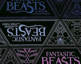 Harry Potter, Wizarding World, Fantastic Beast, 23900105, col 02, Camelot Fabrics, cotton, cotton quilt, cotton designer