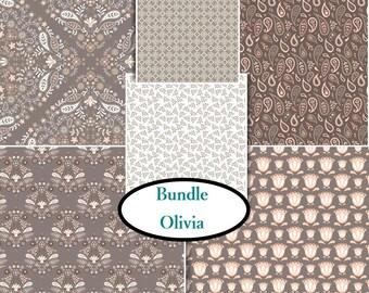 6 prints, Olivia, Camelot Fabric, 1 of each print, (Reg 23.94 - 107.94)
