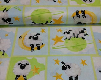 END OF BOLT, Sheep, World of Susybee, Design SB20154 Hamil Textiles, Sheeps,