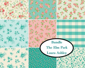 Bundle, 9 prints, The Elm Park Collection, Laura Ashley, 100% Cotton, quilt cotton