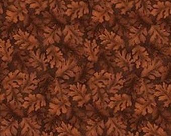 Leaf, chocolate, Harvest Berry, Benartex, 07565, col 077, cotton, cotton quilt, cotton designer