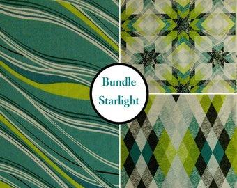 END OF BOLT, Kit 3 prints, Starlight, 100% coton, Windham Fabrics, by Katia Hoffman