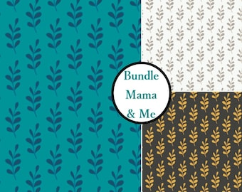 Bundle, 3 prints, Mama & me, Woodland, Camelot Fabrics, Bundle, 1 of each print, cotton