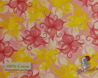 END OF BOLT, Spring Bloom, 100% coton, Windham Fabrics, by Bella Caronia, pattern 40377