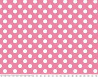 Dots, white, pink, Riley Blake, 350, col 75, cotton, cotton quilt, cotton designer