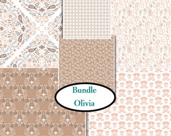 6 prints, Olivia, Camelot Fabric, 1 of each print, (Reg 23.94 - 107.94)