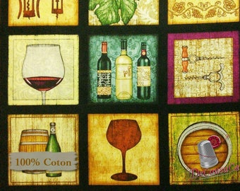 "Panel, 24""X44"", Wine, square, Quilting Treasures, multiple quantity cut in one piece, 100% Cotton, (Reg 10.79)"