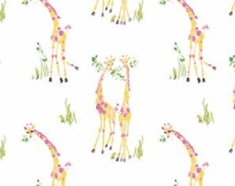 Sweet Giraffes, yellow, white, 71190107, col 01, The Girls Collection, Camelot Fabrics, cotton, cotton quilt, cotton designer