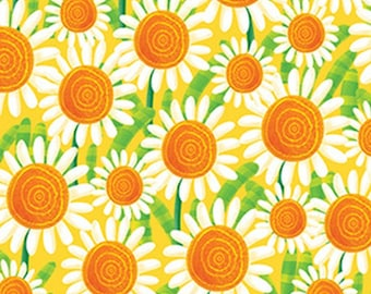 Sunflowers, BUSY BEES, 1415-44, Henry Glass & Co, 100% Cotton