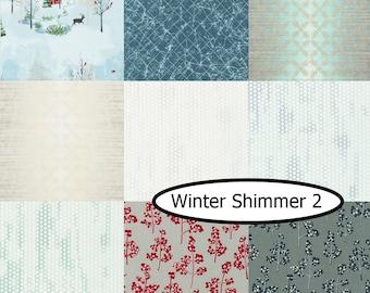 Bundle, 9 prints, Winter Shimmer 2, Robert Kaufman, 100% cotton