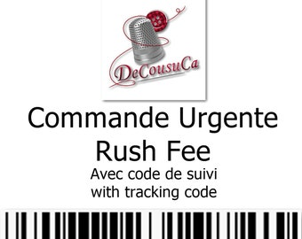 URGENT order, with tracking code, your order will be processed as a priority,  delivered by Canada Post