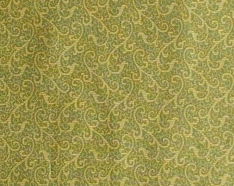 Olive, Windsor Scroll, 24542, 1649,Quilting Treasures, 100% Cotton, (Reg 3.76-21.91)