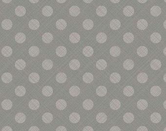 Snowed In, Riley Blake, fabric dot 100% cotton, #10817 GRAY