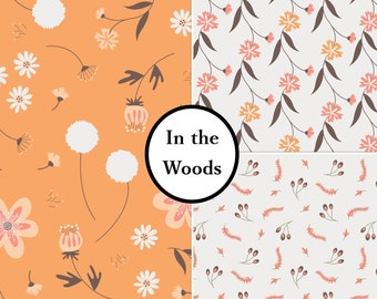VENTE, 3 prints, In the woods, Camelot Fabrics, bundle, 1 of each print, 100% Cotton