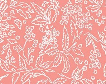 Tropical Foliage, pink, 71180307, col 02, By The Sea, Laura Ashley, Camelot Fabrics, 100% Cotton, (Reg 2.99-17.99)