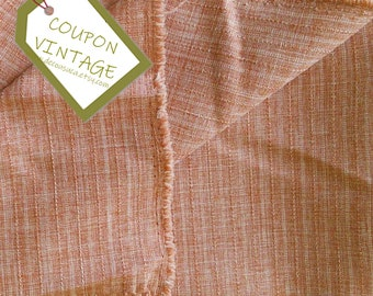 COUPON, Fabric for clothing, Salmon, 100% polyester, texture, opaque and light, NON stretch, for skirt, blouse, dress