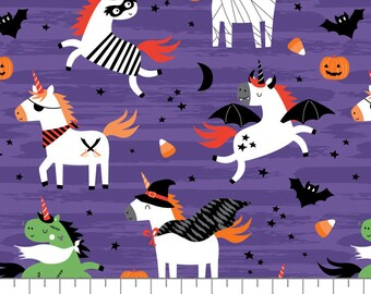 Halloween Unicorns, It's Always Unicorn Season, 89191101, col 02, fabric, cotton, quilt cotton