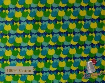 Spring Bloom, 100% coton, Windham Fabrics, by Bella Caronia, pattern 40378